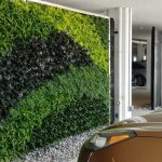 green wall installed in garage