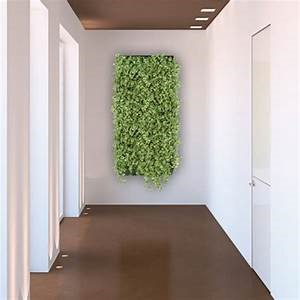 interior living wall in hallway